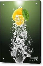 Lemon Splast Acrylic Print by Marvin Blaine