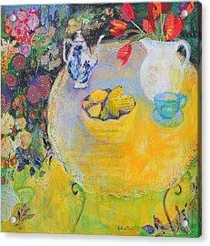 Lemon Tea In The Garden Acrylic Print by Sylvia Paul