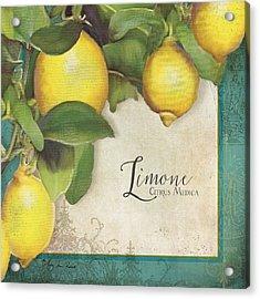 Lemon Tree - Limone Citrus Medica Acrylic Print by Audrey Jeanne Roberts