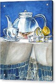 Lemon With Your Tea Acrylic Print