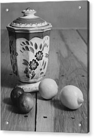 Lemons And Limes Acrylic Print by Henry Krauzyk