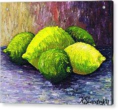 Lemons And Limes Acrylic Print by Kamil Swiatek