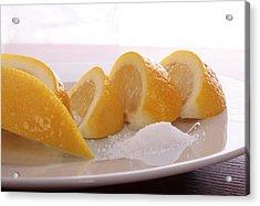 Lemons Acrylic Print by Christin Burrows