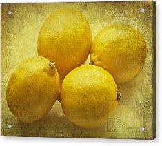 Lemons Acrylic Print by Georgia Fowler