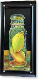 Lemons In Jar.  Sold Acrylic Print
