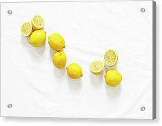 Lemons Acrylic Print by Lauren Mancke