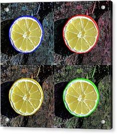 Lemons Acrylic Print by Rob Hawkins