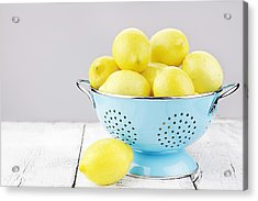 Lemons Acrylic Print by Stephanie Frey