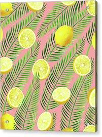Lemons Acrylic Print by Uma Gokhale