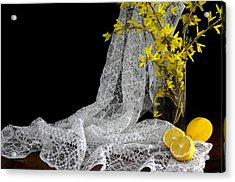 Lemons'n Lace Acrylic Print by Diana Angstadt