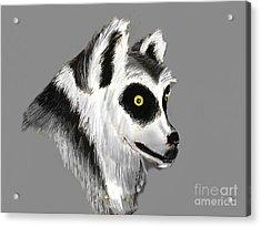 Lemur Acrylic Print by Alfredo Lozano