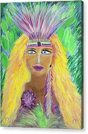 Lemurian Goddess Acrylic Print