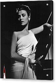 Lena Horne  Circa 1943-2015 Acrylic Print by David Lee Guss