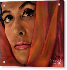 Lena Horne-glass Windows Acrylic Print by Reggie Duffie