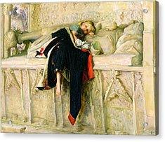 L'enfant Du Regiment Acrylic Print by Sir John Everett Millais