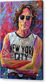 Lennon New York Acrylic Print by Debra Hurd