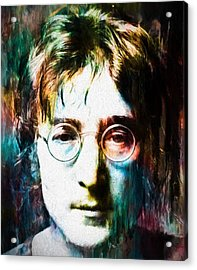 Lennon Tribute Acrylic Print by Dan Sproul