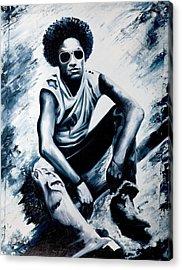 Lenny Kravitz Acrylic Print by Jocelyn Passeron