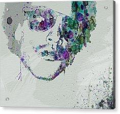 Lenny Kravitz Acrylic Print by Naxart Studio