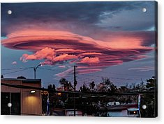Acrylic Print featuring the photograph Lenticular Cloud Las Vegas by Michael Rogers