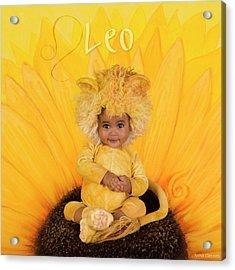 Leo Acrylic Print by Anne Geddes