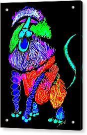 Leo, Rampant -- Negative Version Acrylic Print