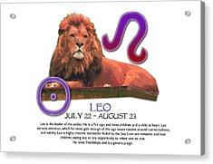 Leo Sun Sign Acrylic Print