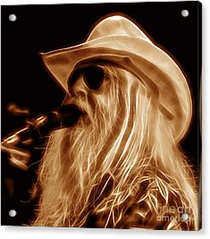 Leon Russell Collecton Acrylic Print by Marvin Blaine