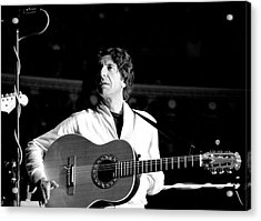 Acrylic Print featuring the photograph Leonard Cohen 1976 Royal Albert Hall by Chris Walter