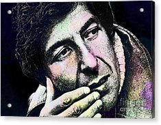 Leonard Cohen - Drawing Tribute Acrylic Print