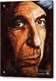 Leonard Cohen Acrylic Print