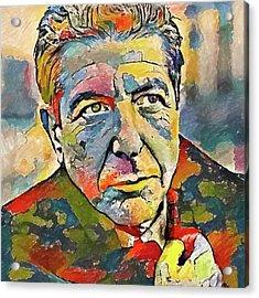 Leonard Cohen Tribute 3 Acrylic Print