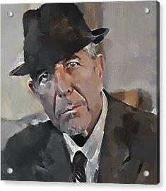 Leonard Cohen Tribute 4 Acrylic Print