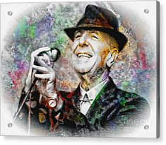 Leonard Cohen - Tribute Painting Acrylic Print