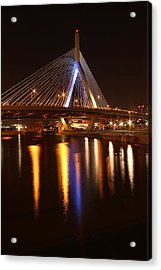 Leonard P. Zakim Bunker Hill Bridge Reflection 2 Acrylic Print