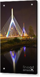 Leonard P. Zakim Bunker Hill Bridge Reflection Acrylic Print