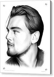 Leonardo Dicarprio Acrylic Print by Greg Joens