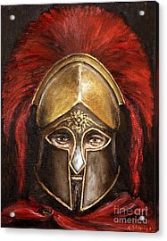 Acrylic Print featuring the painting Leonidas by Arturas Slapsys