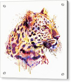 Leopard Head Acrylic Print by Marian Voicu
