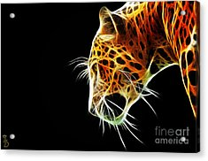 Leopard Acrylic Print by The DigArtisT