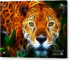Leopard Watching At His Prey Acrylic Print