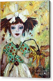 Acrylic Print featuring the painting Leora #1 by Ginette Callaway