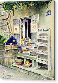 Les Baux Acrylic Print by Karen Fleschler