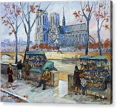 Les Bouquinistes, Seine, Paris Acrylic Print