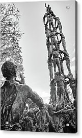 Acrylic Print featuring the photograph Les Castellers Monument In Tarragona by Eduardo Jose Accorinti