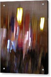 Les Couleurs Du Souk I Acrylic Print by Artecco Fine Art Photography