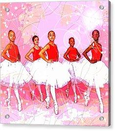 Les Danseurs Noirs Acrylic Print