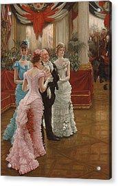 Les Demoiselles De Province Acrylic Print by James Jacques Joseph Tissot