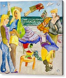 Les Demoiselles Of Santa Cruz V4 Acrylic Print by Susan Cafarelli Burke