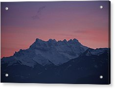 Les Dents Du Midi Acrylic Print by Colleen Williams